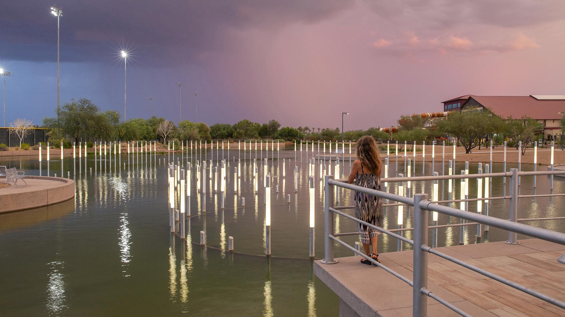 USS Arizona Lake Lights